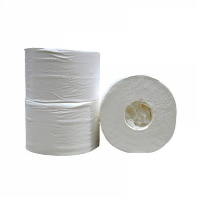 Toiletpapier Kokerloos, 2-laags, cellulose wit, 472 vel, 12 rollen
